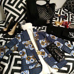Chanel set of bag and shoe